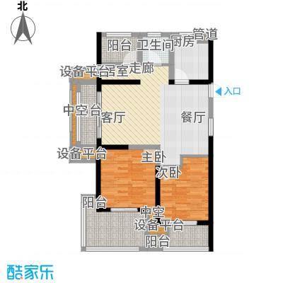 新湖明珠城89.00㎡五期聆湖苑标准层14#A1奇数层户型