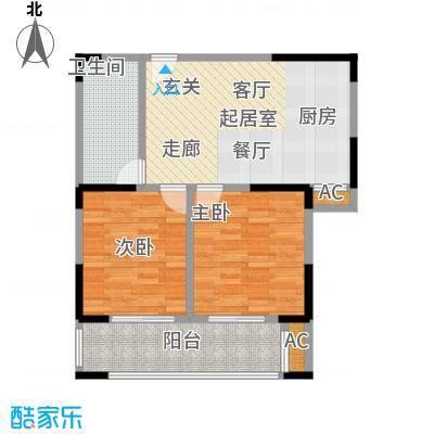 中茵星墅湾74.00㎡二期4#楼B2户型