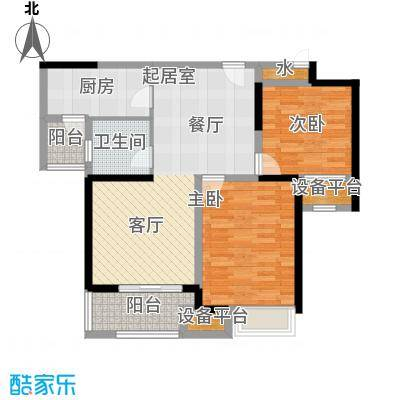 新湖明珠城87.00㎡三期紫桂苑东区1#标准层B户型