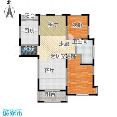 中茵星墅湾108.00㎡二期3、4、5#楼E户型