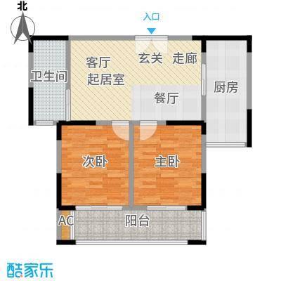 中茵星墅湾80.00㎡二期3、4、5#楼D户型