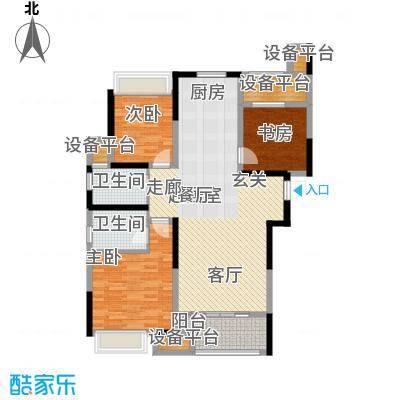 新湖明珠城115.00㎡三期紫桂苑东区4#标准层E户型