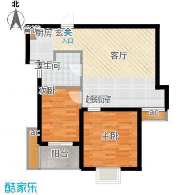 领秀冠南苑69.00㎡2#4#A2户型