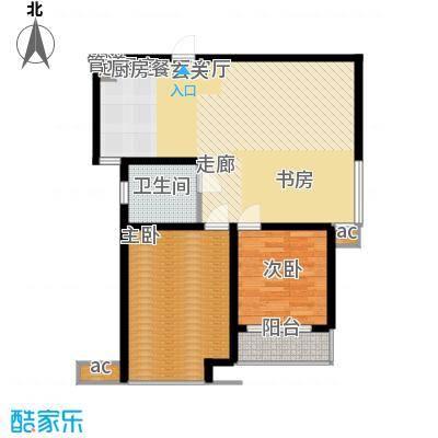 领秀冠南苑89.00㎡2#A4户型