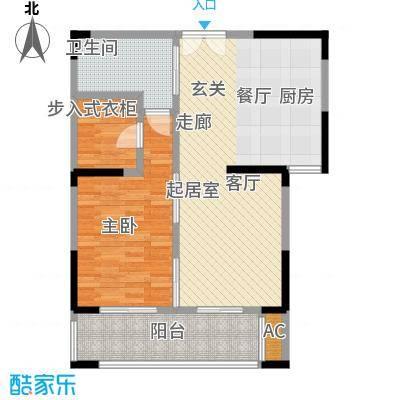 中茵星墅湾74.00㎡二期3、5#楼B1户型
