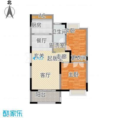 中茵星墅湾91.00㎡二期3、4、5#楼C户型