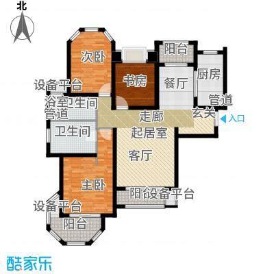 澜调国际127.00㎡5#、6#楼标准层C01户型