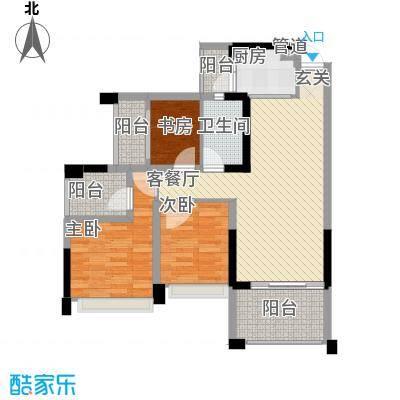 金马香颂居91.31㎡香颂环街1栋02单元3室户型