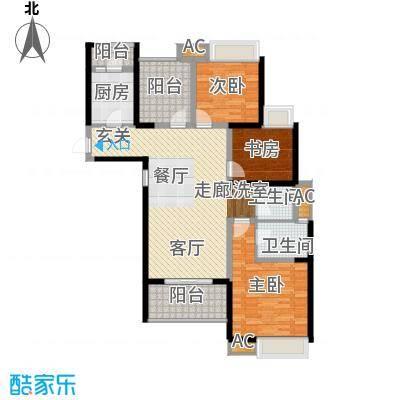 鑫苑鑫城119.00㎡6号楼高层标准层C2户型