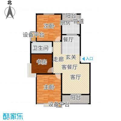 甫澄熙岸105.43㎡1栋、4栋、5栋、8栋、9栋标准层A3户型