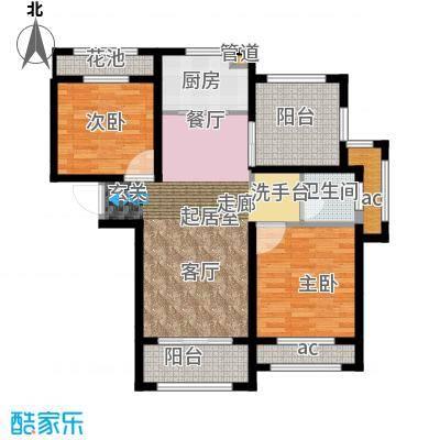 伟业迎春世家95.00㎡高层19#、20#楼标准层G1户型