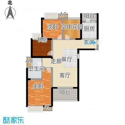 鑫苑鑫城121.00㎡2号楼高层标准层C3户型