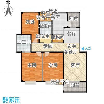 甫澄熙岸125.73㎡1栋、4栋、5栋、8栋、9栋标准层A4户型