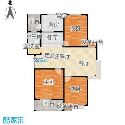 甫澄熙岸108.31㎡1栋、4栋、5栋、8栋、9栋标准层B1户型