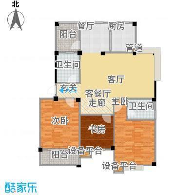 甫澄熙岸120.56㎡1栋、4栋、5栋、8栋、9栋标准层C3户型