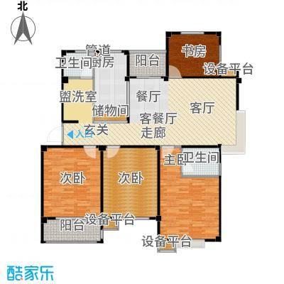 甫澄熙岸137.03㎡1栋、4栋、5栋、8栋、9栋标准层B4户型