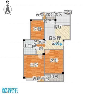 甫澄熙岸89.31㎡1栋、4栋、5栋、8栋、9栋标准层A1户型