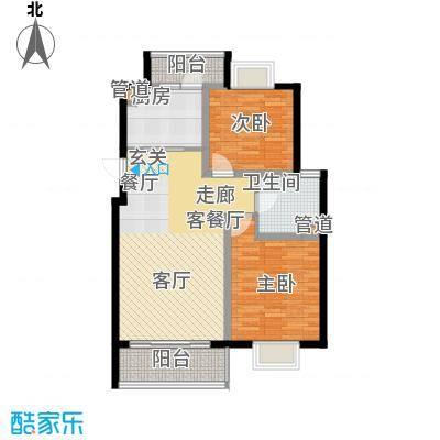 越湖名邸84.00㎡二期公寓A2户型