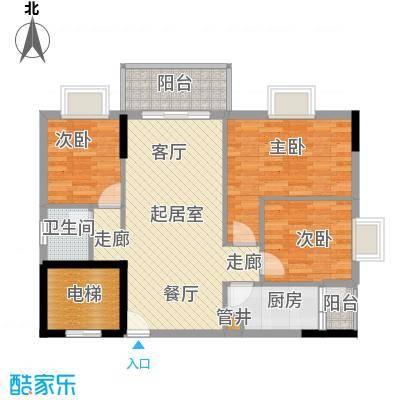 惠百氏广场81.14㎡14-5栋04户型