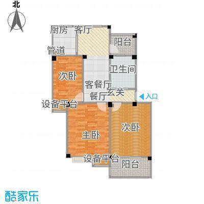 甫澄熙岸88.34㎡1栋、4栋、5栋、8栋、9栋标准层B5户型