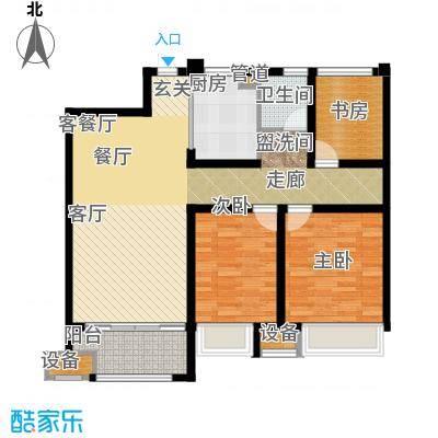 金科天籁城95.00㎡二期20、23号楼中间户B2户型