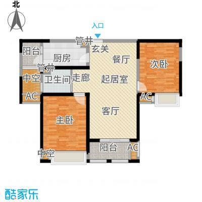 中天和景苑99.00㎡一期9#楼标准层B3户型