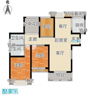 中天和景苑132.00㎡一期9#楼标准层B4户型