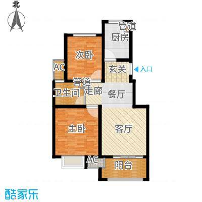 太湖相王府80.00㎡二期住宅E户型