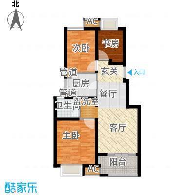 太湖相王府85.00㎡二期住宅F户型