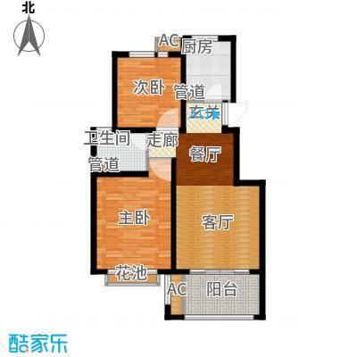 太湖相王府80.00㎡二期住宅C1户型