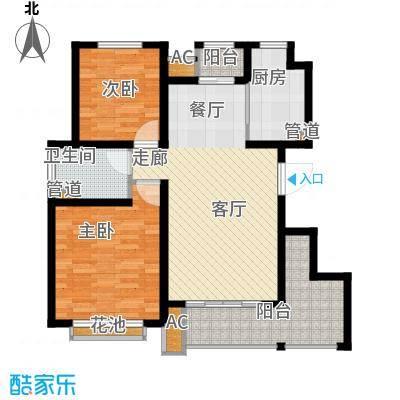太湖相王府86.00㎡二期住宅D1户型