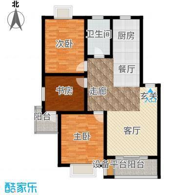 盛泉新城106.88㎡三期12#1-6层B户面积10688m户型
