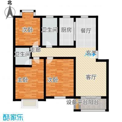 盛泉新城121.07㎡三期12#1-6层C1面积12107m户型