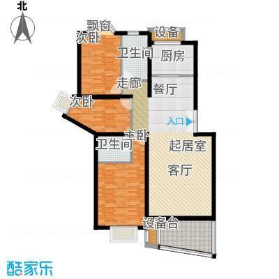 香榭里花园115.21㎡3面积11521m户型