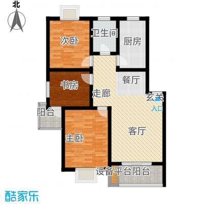 盛泉新城95.74㎡三期13#1-6层E户面积9574m户型