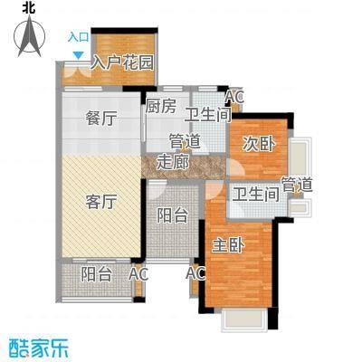 星河盛世108.16㎡一期2栋02单元2室户型