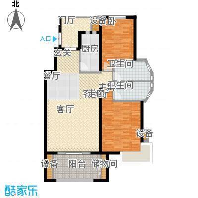 阳光聚宝山庄臻园114.86㎡一期2层面积11486m户型