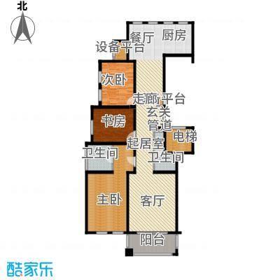 天正桃源133.00㎡一期4号楼标准层面积13300m户型
