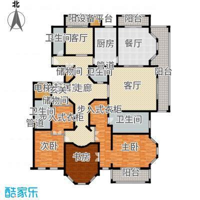 天正桃源335.00㎡一期5号楼标准层面积33500m户型