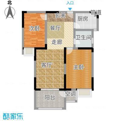 金王府94.15㎡54、58幢标准层D户面积9415m户型