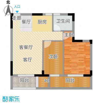 仁恒G53公寓79.00㎡面积7900m户型