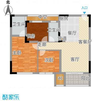 仁恒G53公寓100.00㎡面积10000m户型
