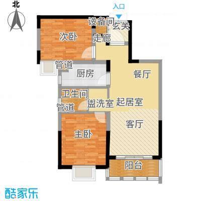 亚东观云国际公寓81.00㎡1号楼标面积8100m户型