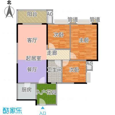 金沙山海名门90.00㎡金沙・山海名门1/3栋标准层04/05户型