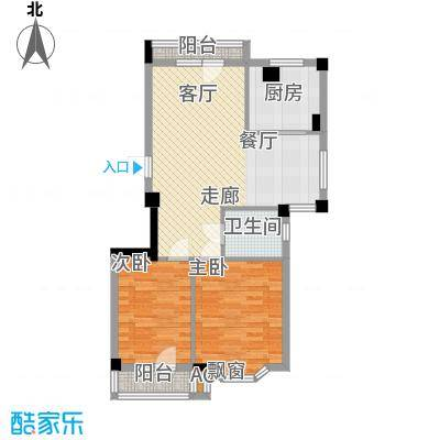 龙福山庄73.00㎡面积7300m户型