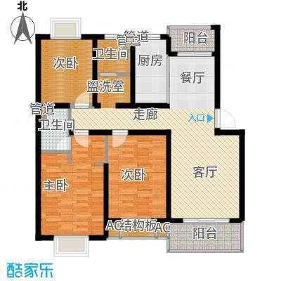 高新花苑107.80㎡面积10780m户型