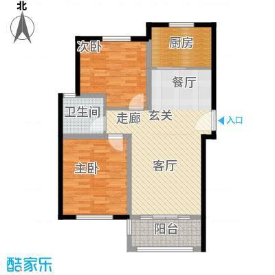 盈嘉香榴湾75.00㎡面积7500m户型
