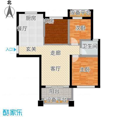 盈嘉香榴湾78.00㎡面积7800m户型