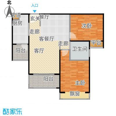 中信和平家园90.07㎡C2面积9007m户型