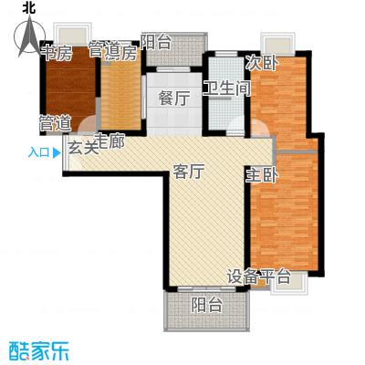 绿洲湖畔花园116.00㎡上海绿洲中环中心(绿洲湖畔花面积11600m户型